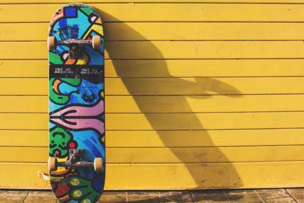 skateboard unsplash tinified